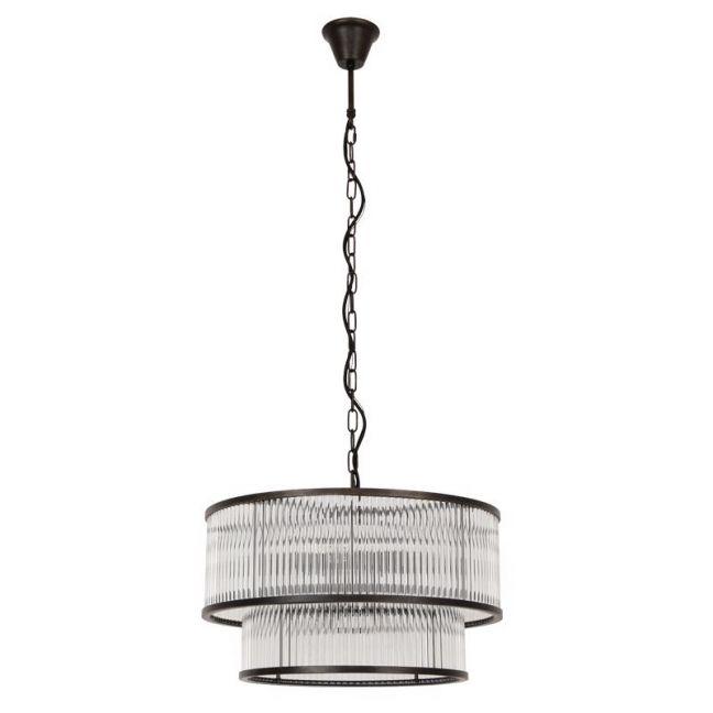 Corbelle 6+4 Light Pendant | Antique Black | By Beacon Lighting