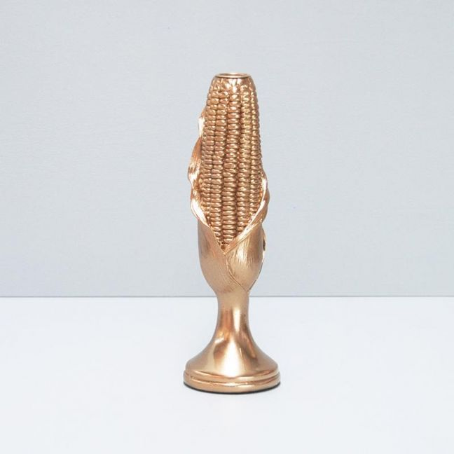 Corn Candle Holder | Gold