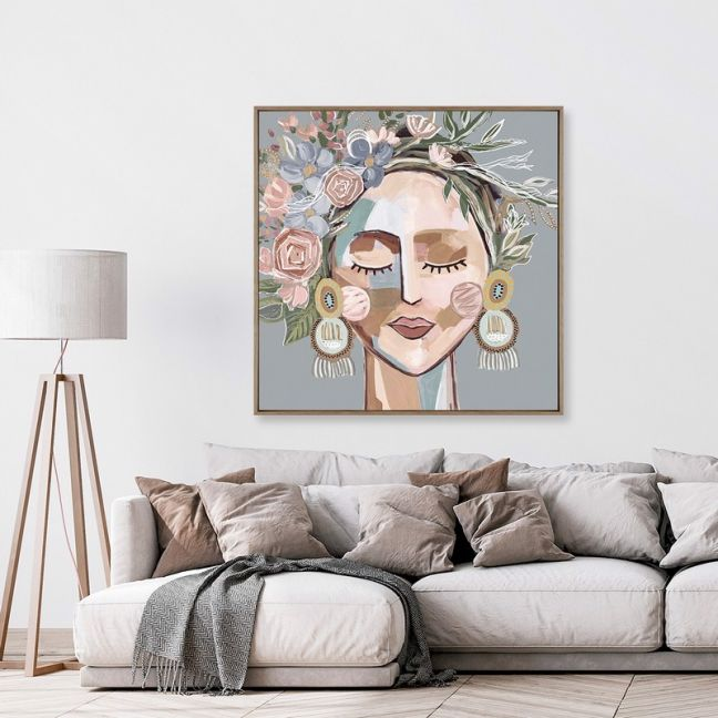Cosmo Sage   Framed Canvas