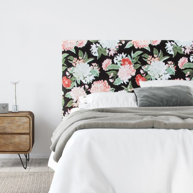 Cosy Bouquet Velvet Upholstered Bedhead | All Sizes | Custom Made by Martini Furniture