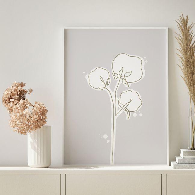 Cotton at Dusk | Floral Art Print | Framed or Unframed
