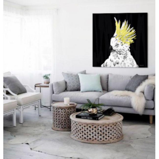 Cowabunga Cockatoo   Canvas Print by Libby Watkins