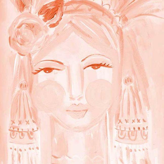 Creative Peach   Canvas Art Print