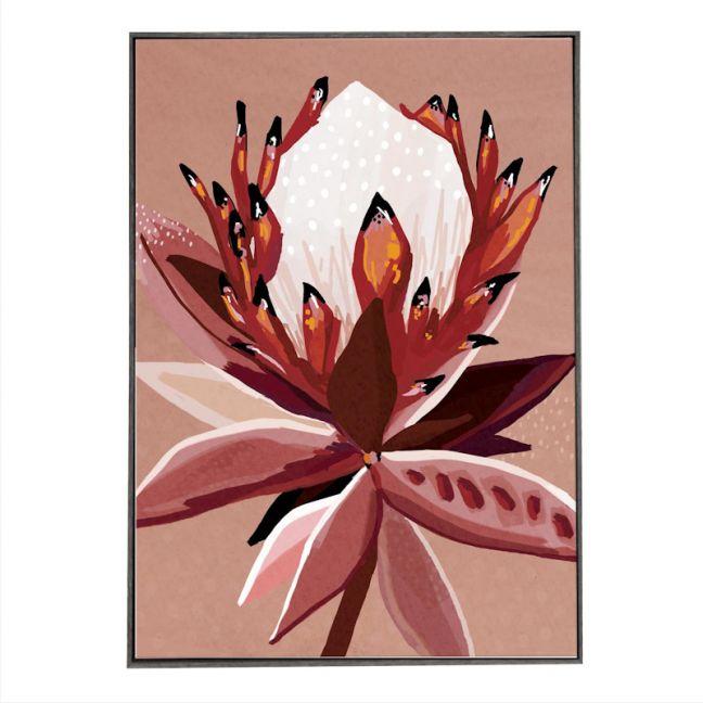 Crimson Protea | Black Box Frame | Front View