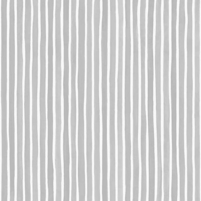 Croquet Stripe Wallpaper - Grey