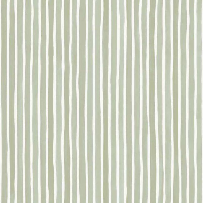 Croquet Stripe Wallpaper - Olive