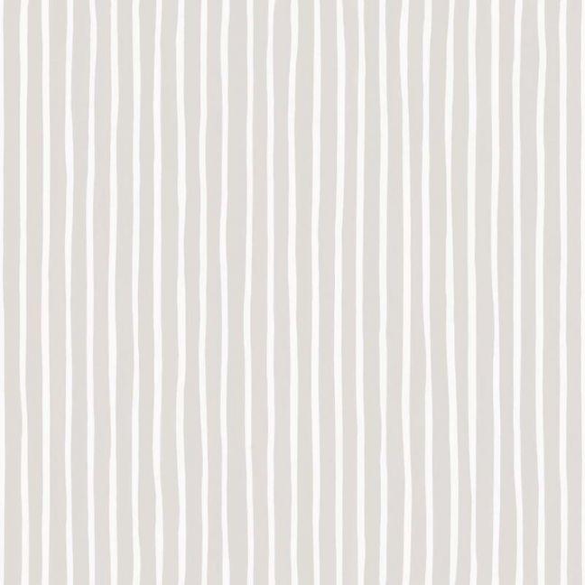 Croquet Stripe Wallpaper - Parchment