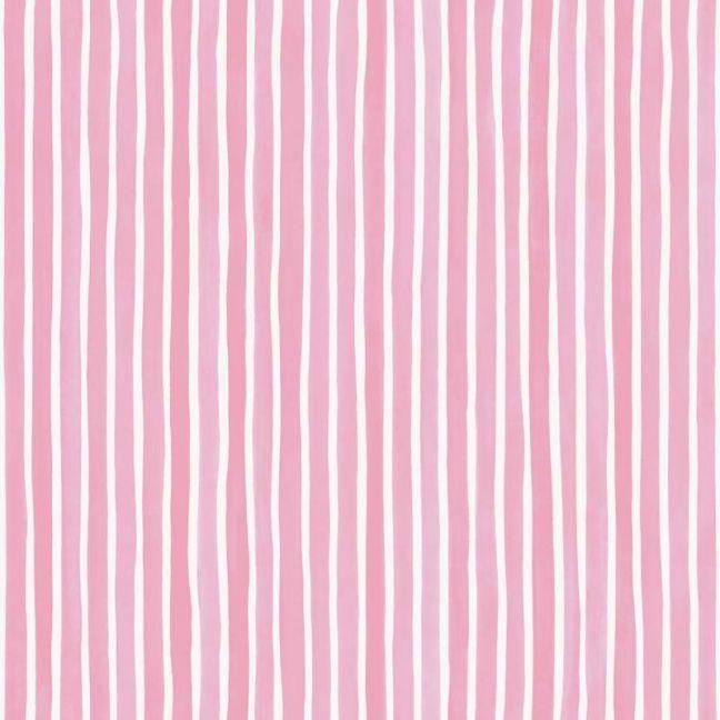 Croquet Stripe Wallpaper - Pink