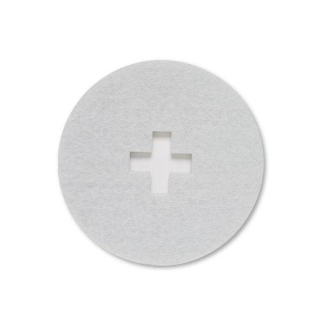 Cross White Felt Coaster | Set of Four | CLU Living