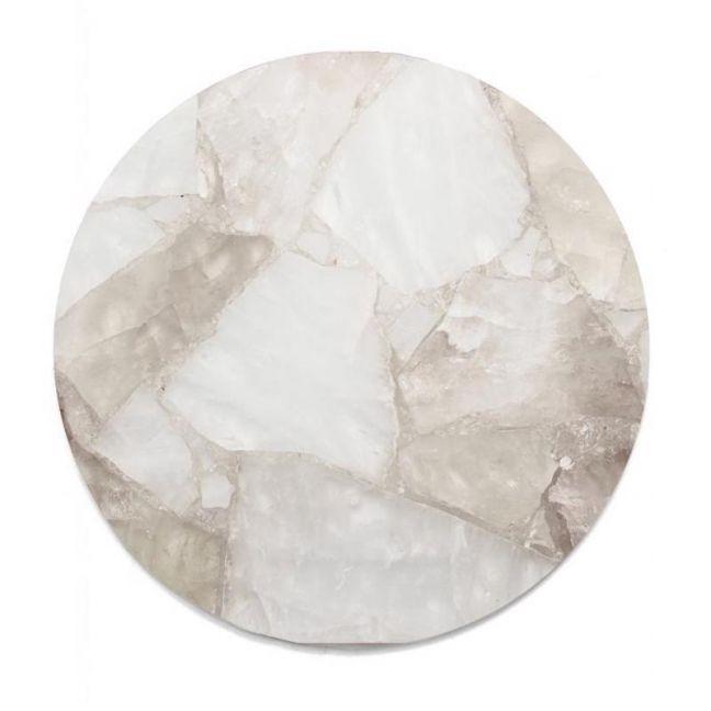 Crystal Circle Tray | Clear + Smoky Quartz