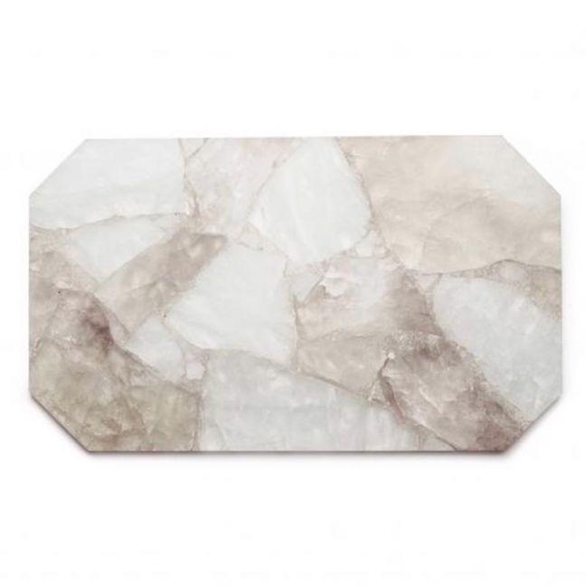 Crystal Rectangle Tray | Clear + Smoky Quartz