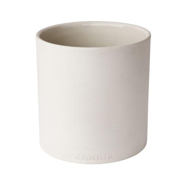 Cylinder Pot   White   By Zakkia