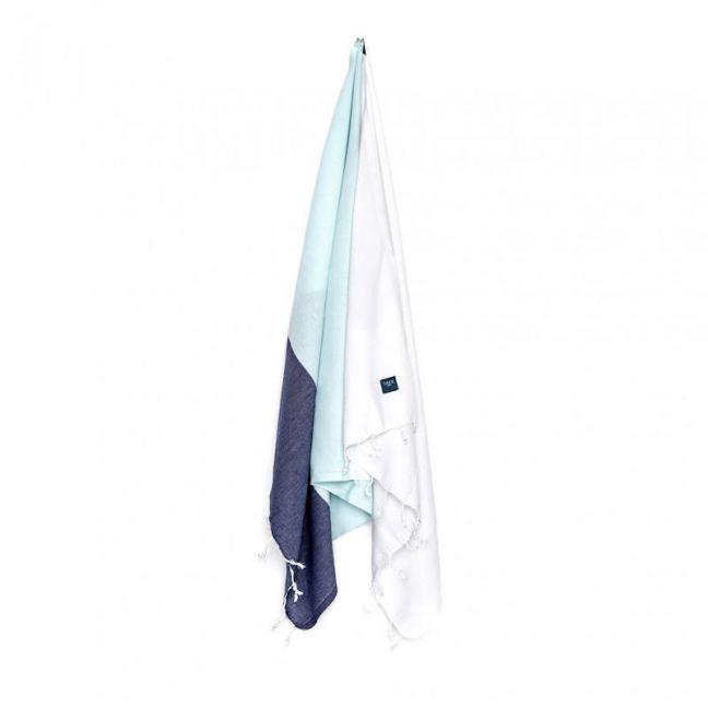DAGAT Bath & Beach Towel | Mint, White & Navy