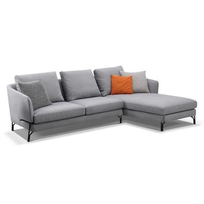 Dakota 3 Seater with Right Chaise | Light Grey
