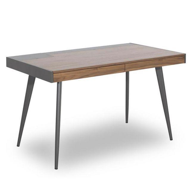Dalary Desk | Walnut + Dark Grey | Modern Furniture