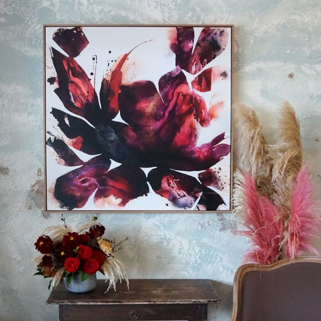 Dance Me to the End of Love | Limited Edition Canvas Print, Framed in Raw Oak, by Amica Whincop