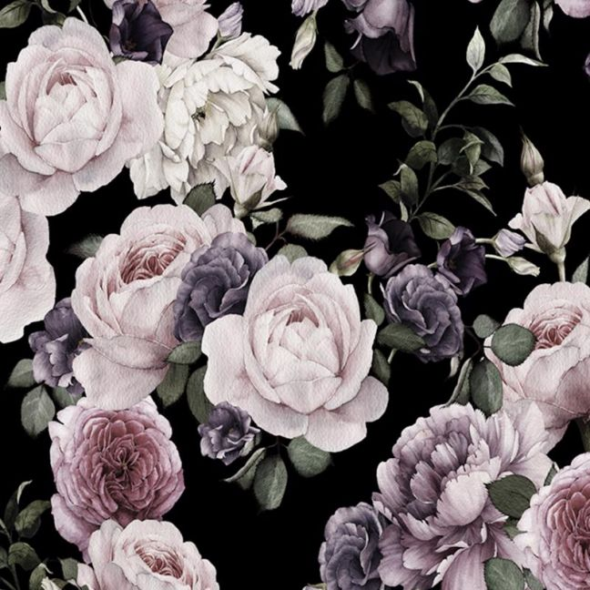Dark Floral | Full Wall