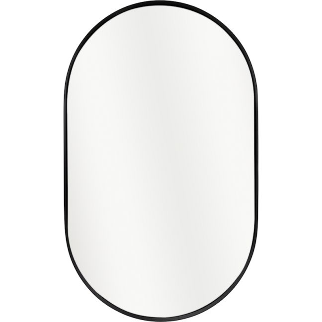 Darla Oval Mirror | Matt Black