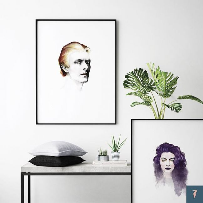 David Bowie | The Thin White Duke by ANDLIZZY | Unframed Print