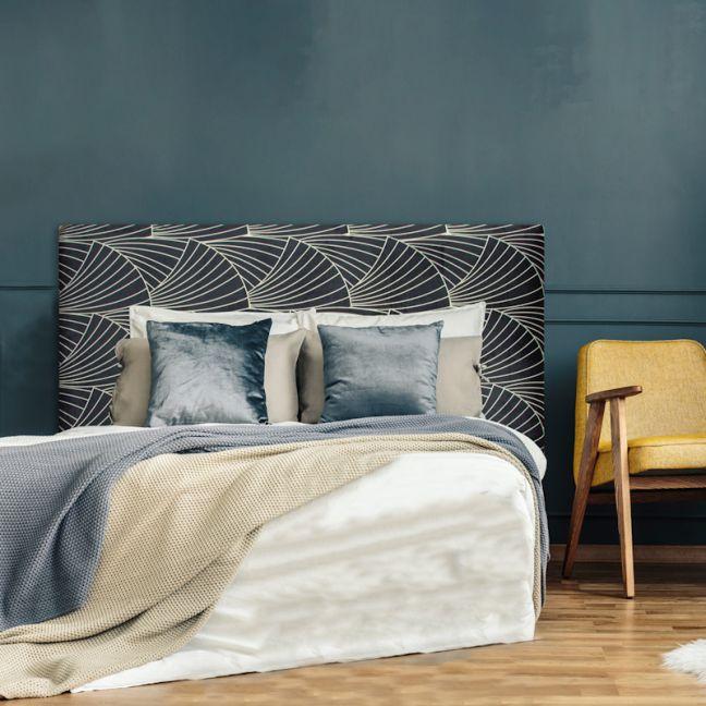 Deco Fans Velvet Upholstered Bedhead | All Sizes | Custom Made by Martini Furniture