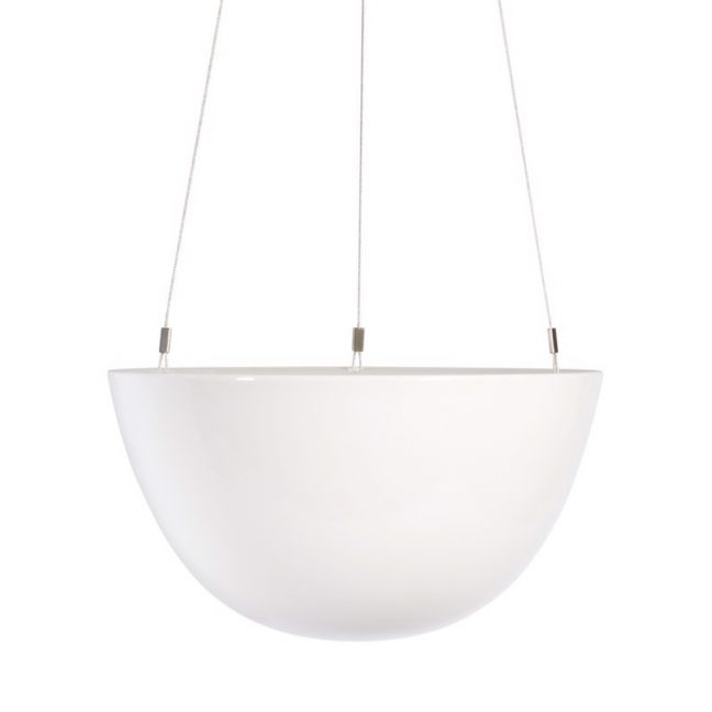 Decorative Hanging Planter | White | Medium by Angus & Celeste