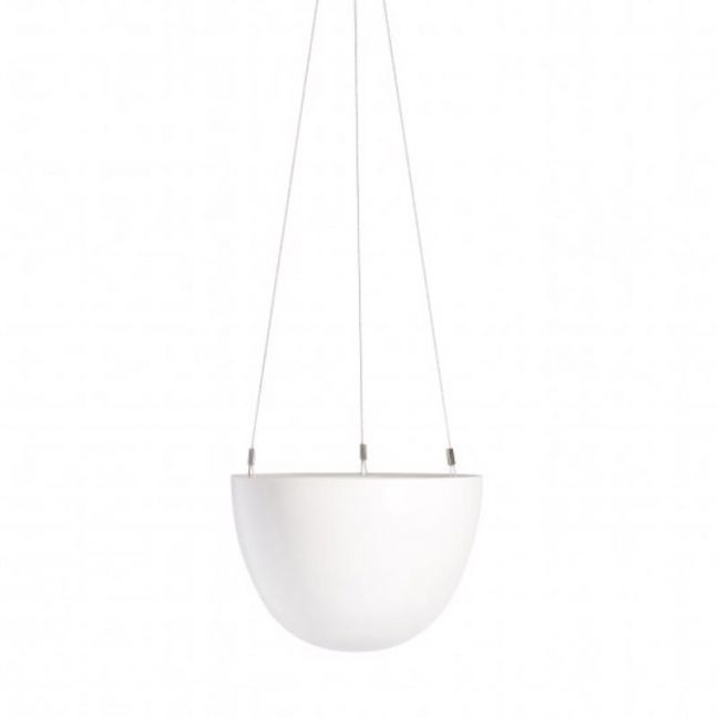 Decorative Hanging Planter | White | Small by Angus & Celeste