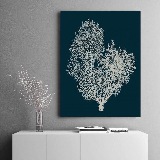 Deep Blue Coral | Canvas Wall Art By Beach Lane