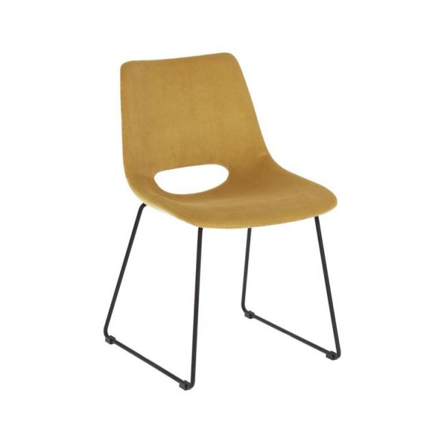 Denver Dining Chair   Mustard Corduroy   CLU Living