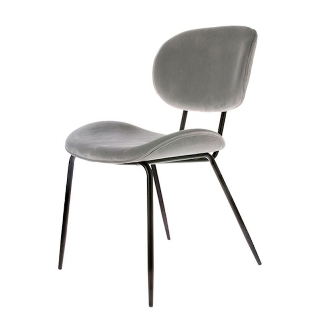Dining Chair | Velvet Cool Grey | HK Living