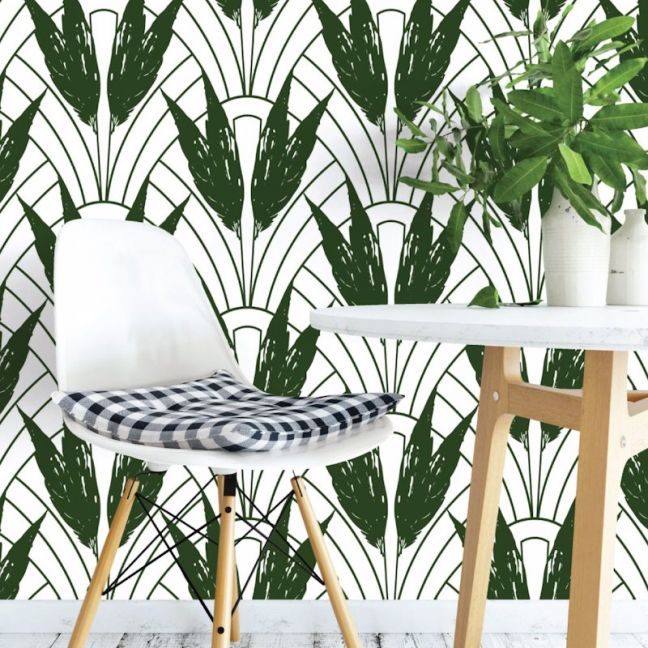 Dolores - Nature's Glamour Collection | Eco Wallpaper | Dolores Green | Amba Florette