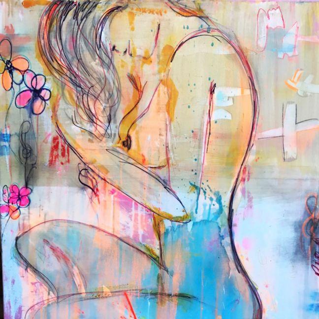 Dream Girl | Original Canvas Artwork by Melissa La Bozzetta. SOLD. Please Inquire.