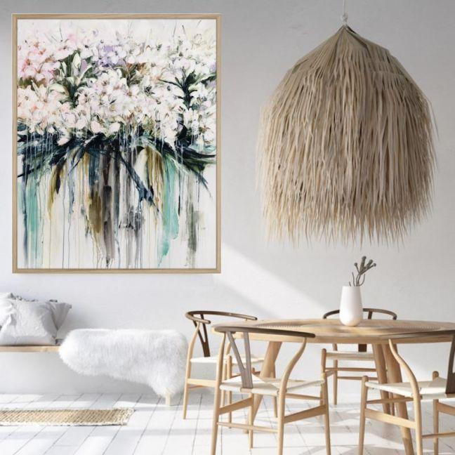 Drip Flowers | Framed Canvas Print | CP1004-339 | Colour Clash Studio