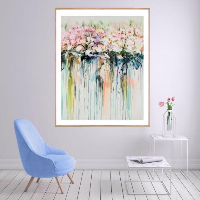 Drip Flowers | Framed Print | P1004-292 | Colour Clash Studio