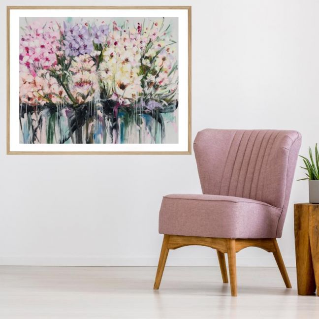 Drip Flowers | Framed Print | P1004-345-1 | Colour Clash Studio