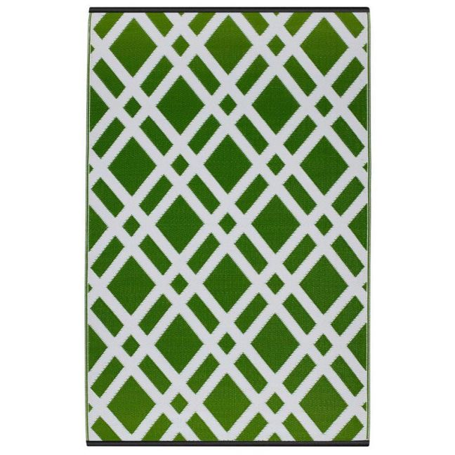 Dublin Lime Recycled Plastic Indoor/Outdoor Mat | 150x238 cm | Fab Habitat