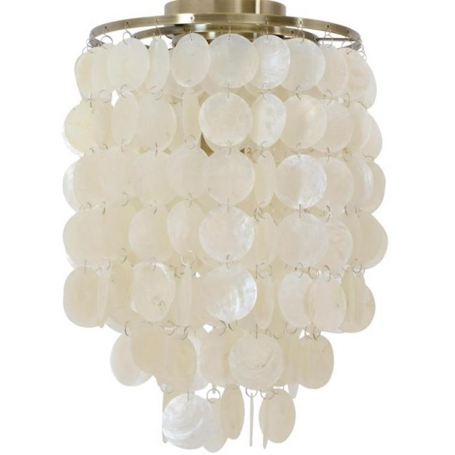 Dunne 1 Light Pendant Or Close To Ceiling Fitting In Antique Brass By Beacon Lighting