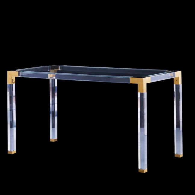 Easper Lucite Acrylic Dining Table | Glass Top | Customisable