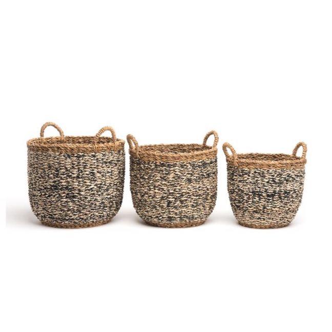 Ebony | Set of 3 | Handmade Basket | Fab Habitat