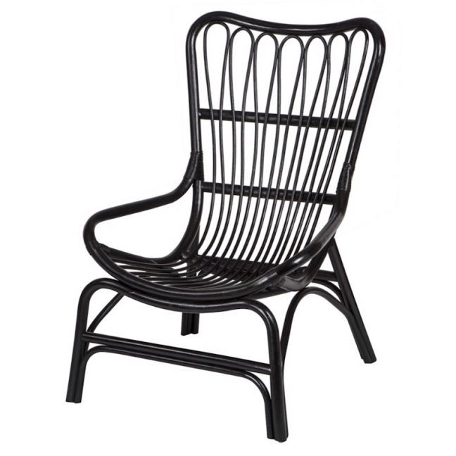 Ebota Ratten Chair Black