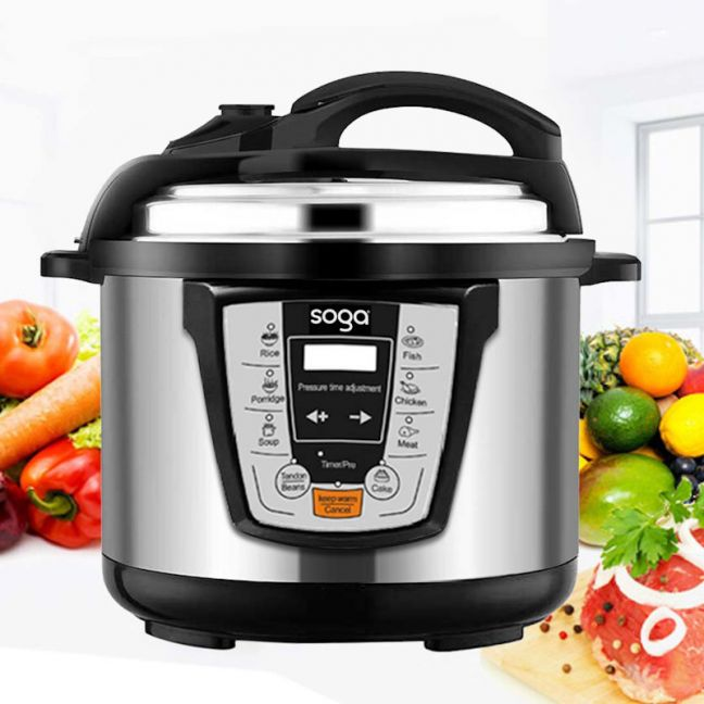 Electric Stainless Steel Pressure Cooker   10L
