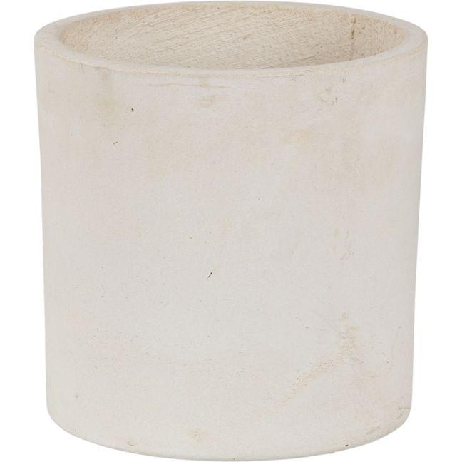 Elina 24cmx26cm Concrete Planter   Milky White