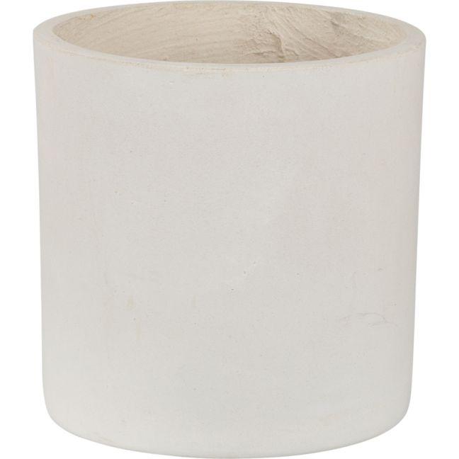 Elina 31cmx34cm Concrete Planter   Milky White