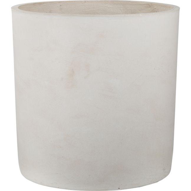 Elina 56cm x57cm Concrete Planter | Milky White