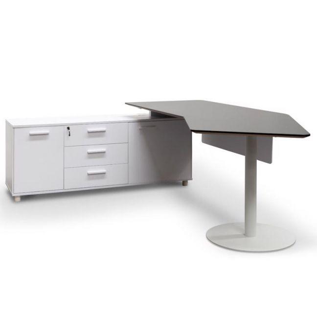 Elite Executive Office Desk with Left Return   Black