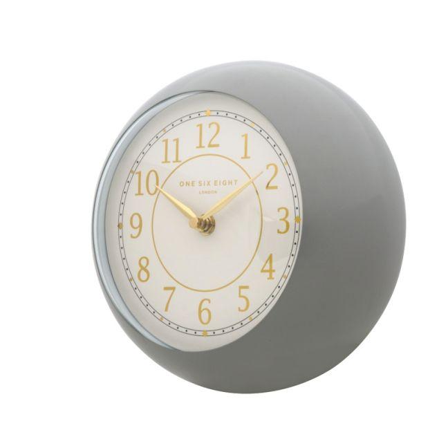 Emily Wall Clock | 21cm | Metal | Grey