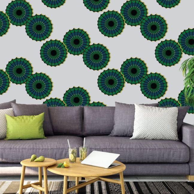 Emokpaire - African Dreams   Eco Wallpaper   Green   Amba Florette