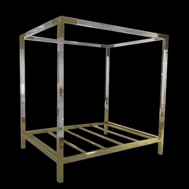 Empress Lucite Acrylic Queen 4 Post Bed   Customisable