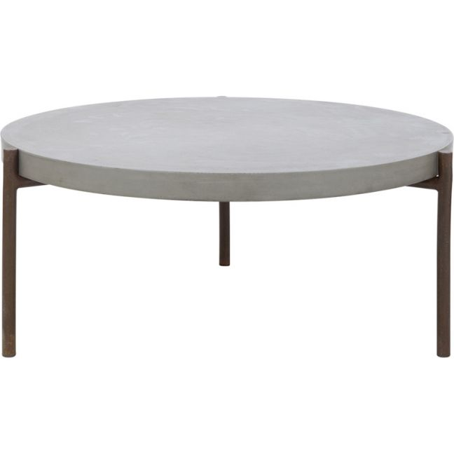 Eva Concrete Coffee Table | Dark Grey | Schots