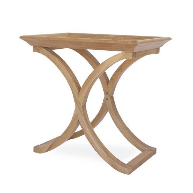 Evie Side Table Oak Cross Legs   by Black Mango