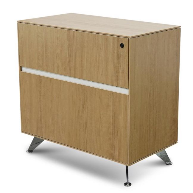 Excel 2 Drawer Lateral Filing Cabinet   Natural
